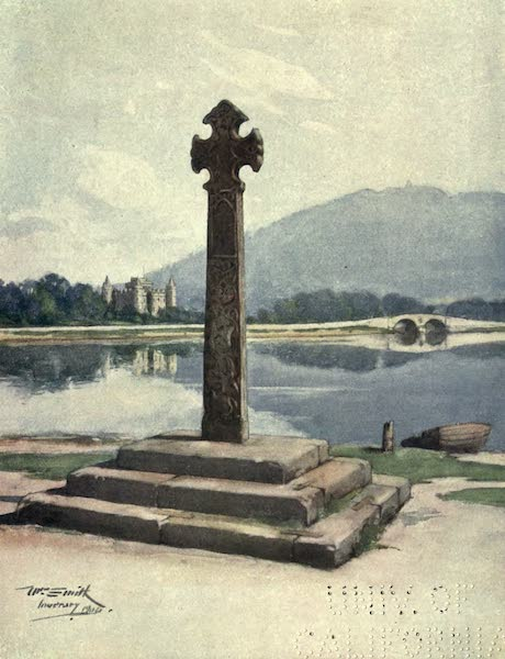 Highlands and Islands of Scotland Painted and Described - Inveraray Cross and Castle (1907)