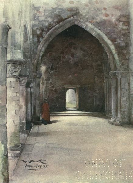 Highlands and Islands of Scotland Painted and Described - Interior, Iona Cathedral (1907)