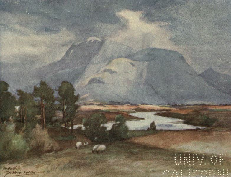 Highlands and Islands of Scotland Painted and Described - Ben Nevis (1907)