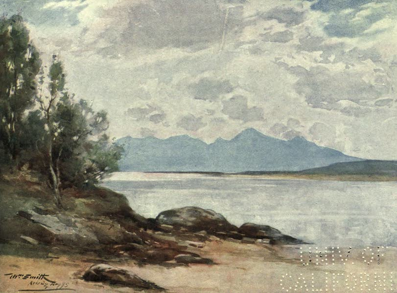 Highlands and Islands of Scotland Painted and Described - The Island of Rum, From Arisaig (1907)