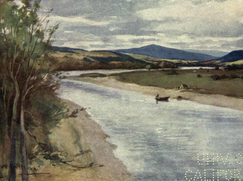 Highlands and Islands of Scotland Painted and Described - The River Spey near Fochabers (1907)