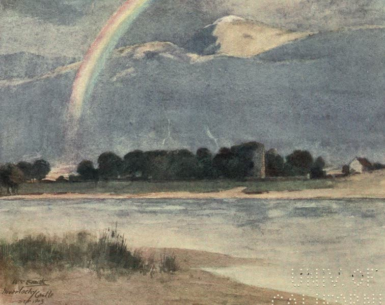 Highlands and Islands of Scotland Painted and Described - Inverlochy Castle and Ben Nevis (1907)
