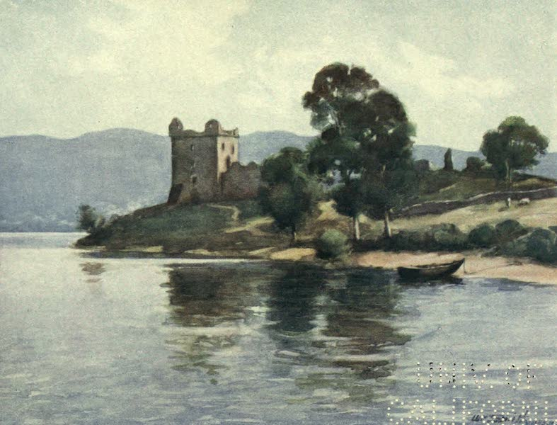 Highlands and Islands of Scotland Painted and Described - Castle Urquhart, Loch Ness (1907)