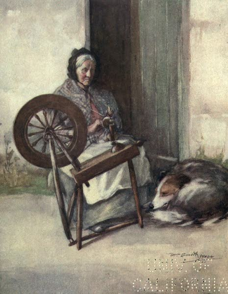 Highlands and Islands of Scotland Painted and Described - Spinning in Skye (1907)