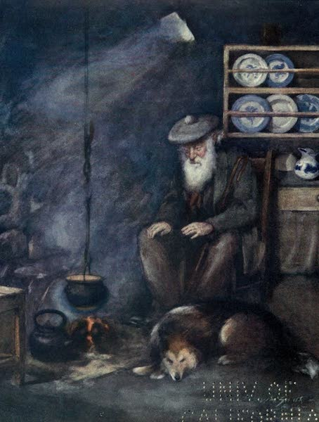 Highlands and Islands of Scotland Painted and Described - Skye Crofter (1907)