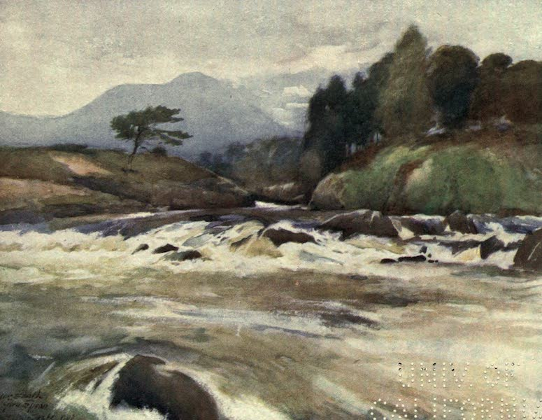 Highlands and Islands of Scotland Painted and Described - The Falls of Spean, Inverness-shire (1907)
