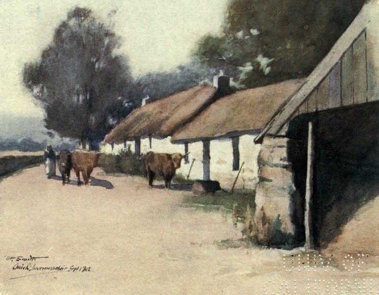 Highlands and Islands of Scotland Painted and Described - Crofters' Cottages, Onich, Inverness-shire (1907)