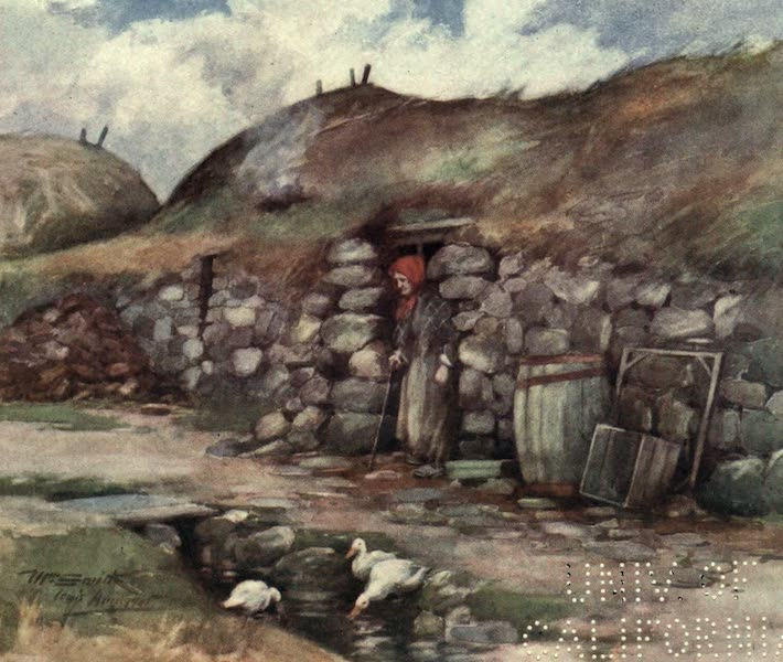 Highlands and Islands of Scotland Painted and Described - A Hebridean Crofter's House (1907)