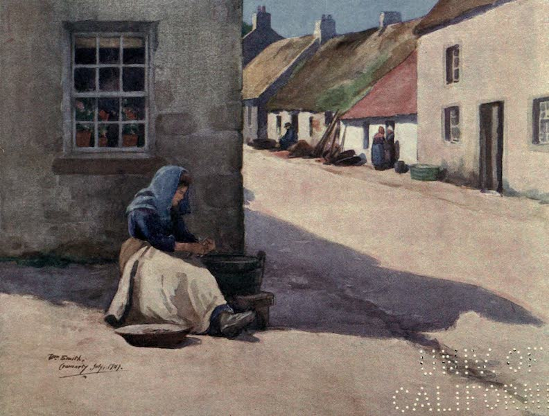 Highlands and Islands of Scotland Painted and Described - Shelling Mussels, Cromarty (1907)