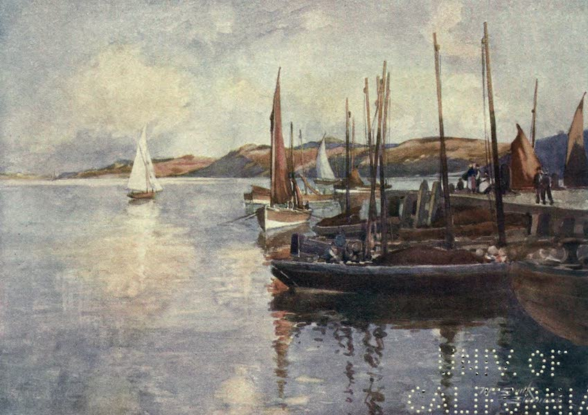 Highlands and Islands of Scotland Painted and Described - The Herring Fleet in Stornoway Bay, Island of Lewis (1907)