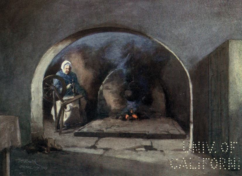 Highlands and Islands of Scotland Painted and Described - An Orcadian Fireplace (1907)