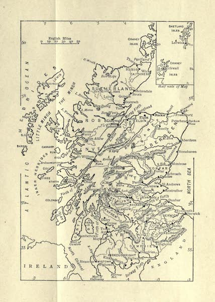 Highlands and Islands of Scotland Painted and Described - Sketch Map of Scotland (1907)