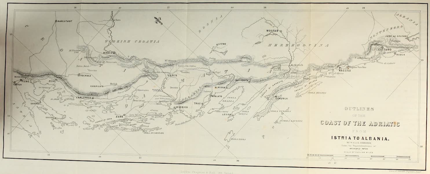 Highlands and Islands of the Adriatic - Outlines of the Coast of the Adriatic from Istria to Albania (1849)
