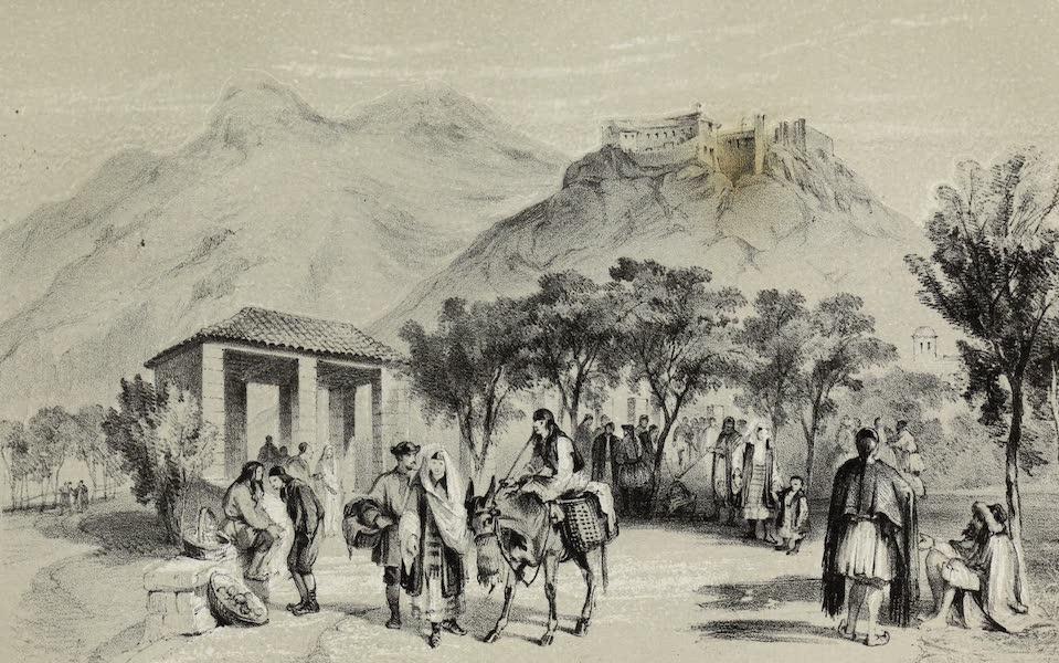 Highlands and Islands of the Adriatic - Montenegrine Bazaar in Cattaro (1849)