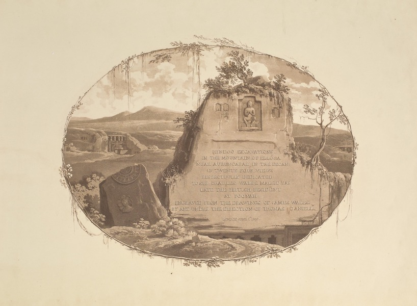 Hindoo Excavations in the Mountain of Ellora - Title Page (1803)