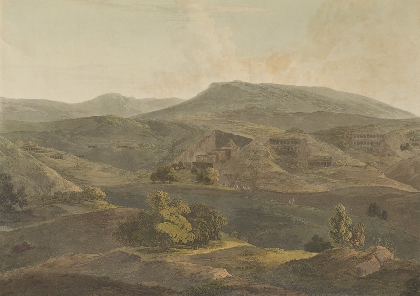 Hindoo Excavations in the Mountain of Ellora - The Mountain Of Ellora. 2nd View (1803)
