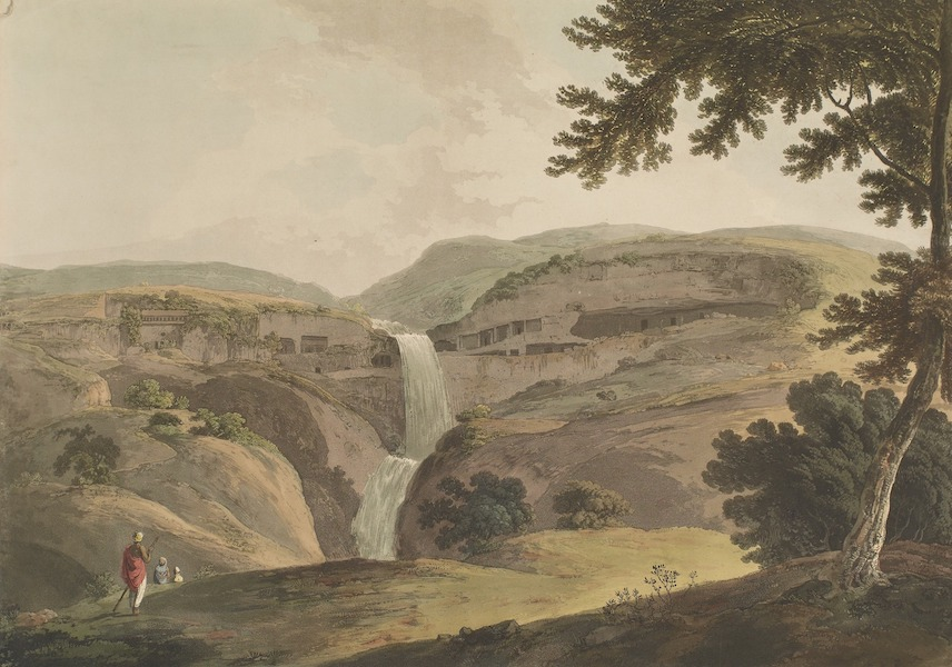 Hindoo Excavations in the Mountain of Ellora - The Mountain Of Ellora. 3rd View (1803)