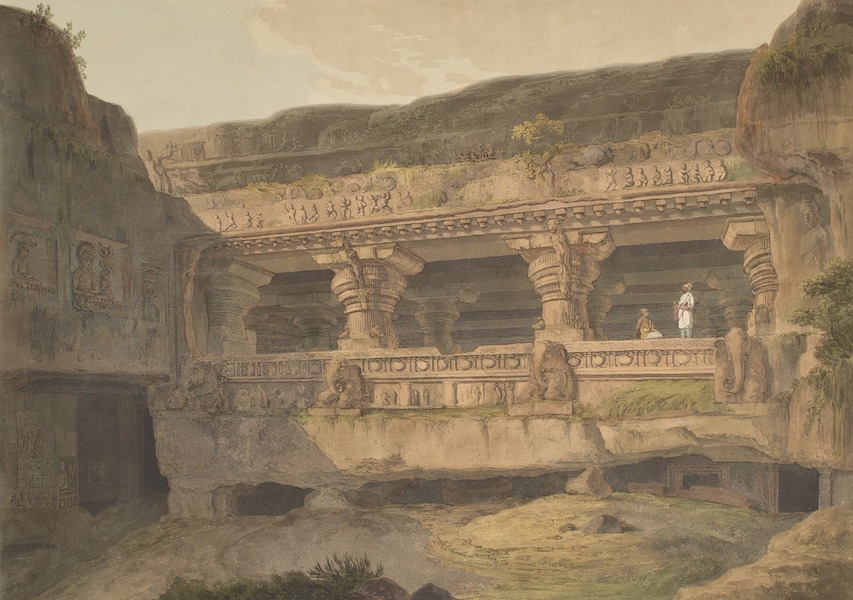 Hindoo Excavations in the Mountain of Ellora - Jagannâtha Sabhâ (1803)