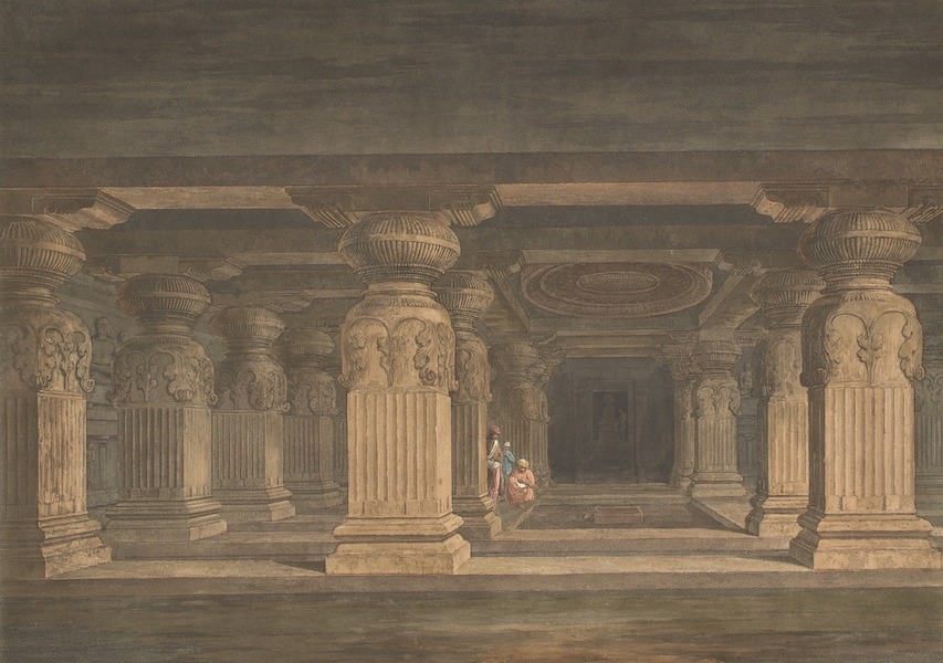 Hindoo Excavations in the Mountain of Ellora - Indra Sabhâ (1803)