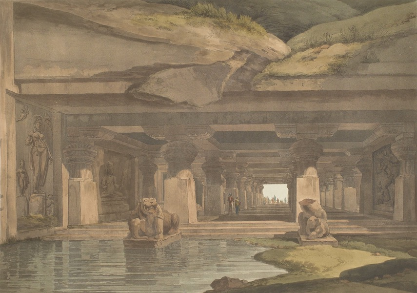 Hindoo Excavations in the Mountain of Ellora - Doomar Leyna (1803)