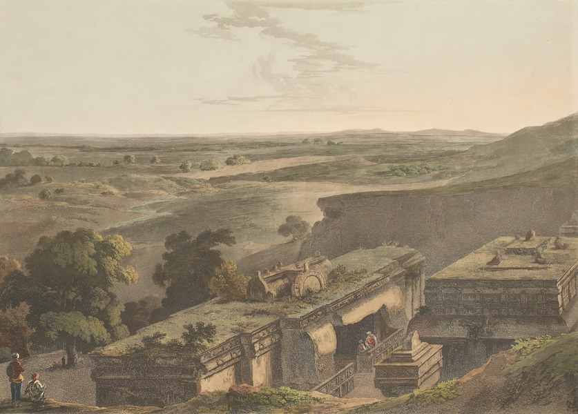 Hindoo Excavations in the Mountain of Ellora - The Upper Part Of Kailâsa. No. 1 (1803)