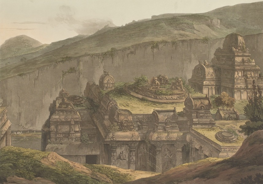 Hindoo Excavations in the Mountain of Ellora - The Upper Part Of Kailâsa. No. 2 (1803)