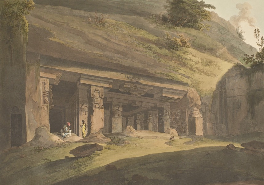 Hindoo Excavations in the Mountain of Ellora - The Ashes Of Râvana (1803)