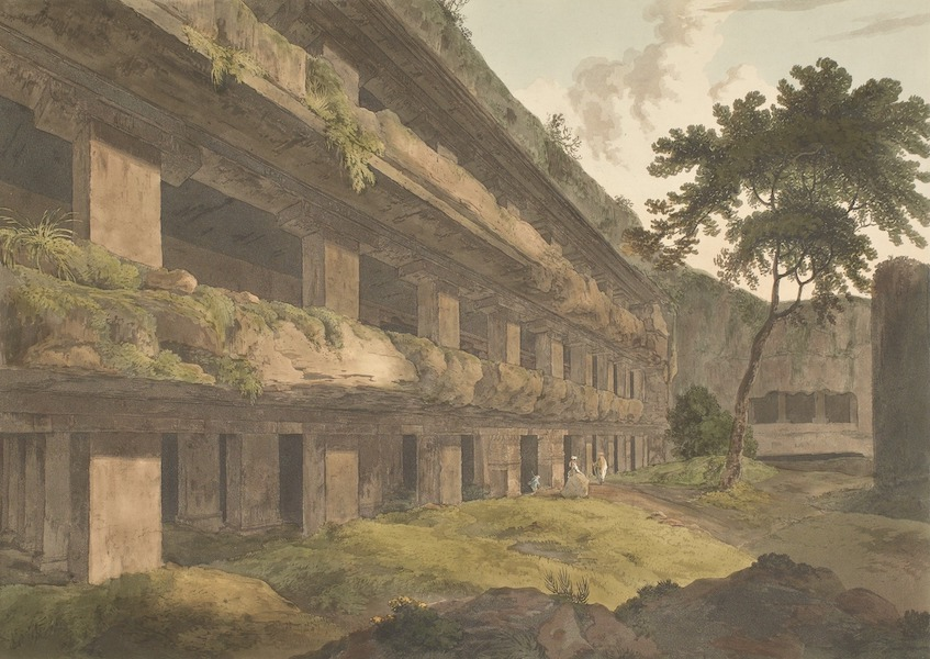 Hindoo Excavations in the Mountain of Ellora - Tin-Tali (1803)