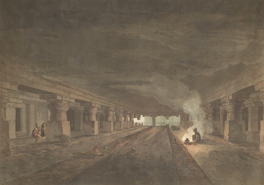 Hindoo Excavations in the Mountain of Ellora - Dehr Warra (1803)