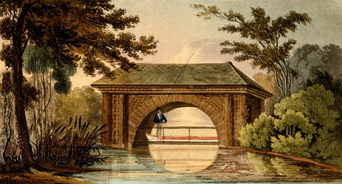 Hints on Ornamental Gardening - A Bridge and Boat House (1823)