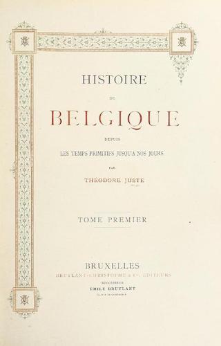 French - Histoire de Belgique Vol. 1