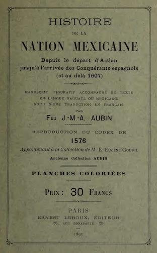 Aquatint & Lithography - Histoire de la Nation Mexicaine depuis le Depart d'Aztlan