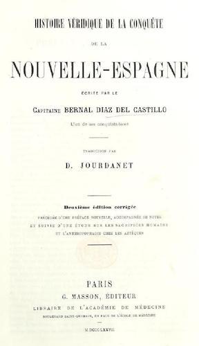 French - Histoire Veridique de la Conquete de la Nouvelle-Espagne