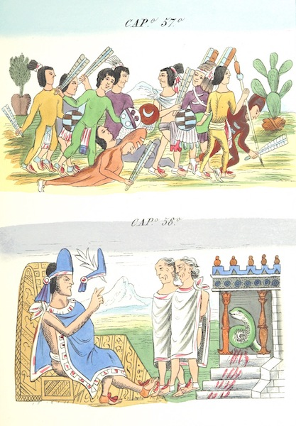 Historia de las Indias de Nueva Espana y Islas de Tierra Firme Atlas - Trat: 1 - Lamina 21 (1880)