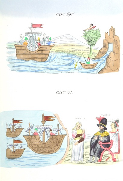 Historia de las Indias de Nueva Espana y Islas de Tierra Firme Atlas - Trat: 1 - Lamina 27 (1880)