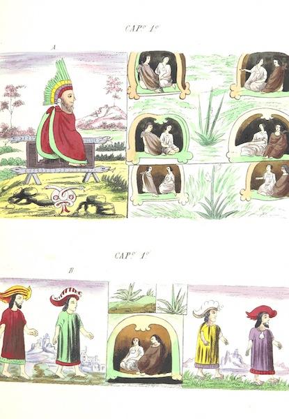 Historia de las Indias de Nueva Espana y Islas de Tierra Firme Atlas - Trat: 2 - Lamina 1 (1880)