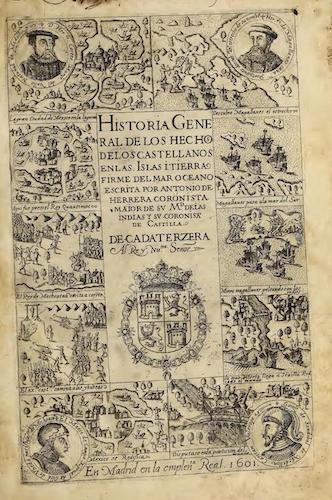 Historia General de los Hechos de los Castellanos Vols. 3, 4 & 5 (1601)