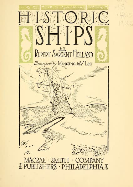 Historic Ships - Title Page (1926)