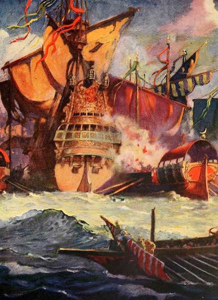 Historic Ships - The Turkish Fleet Attacking the Venetian Flagship (1926)