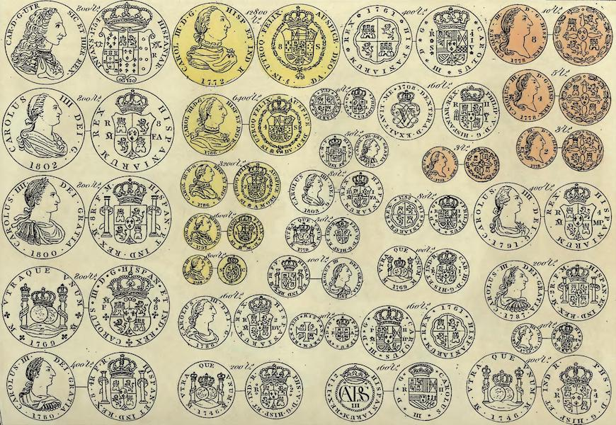 Historical, Military, and Picturesque Observations on Portugal Vol. 1 - Spanish coins shewing their value as directed to pass current in Portugal by General Junot. (1818)