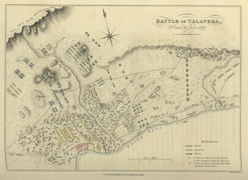 Historical, Military, and Picturesque Observations on Portugal Vol. 1 - Battle of Talavera, 28th & 29th July, 1809 (1818)