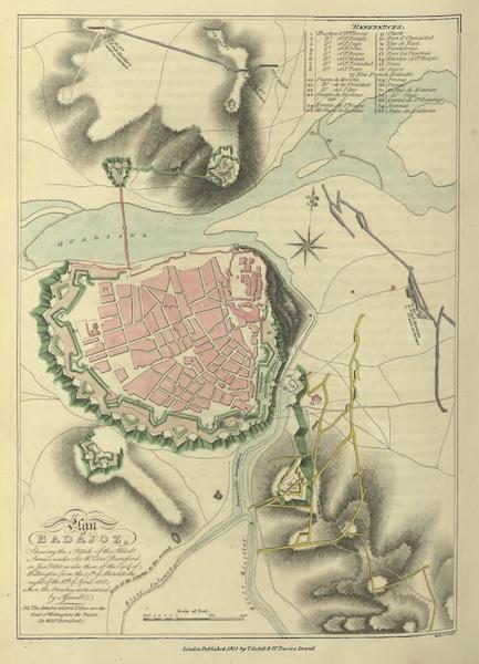 Historical, Military, and Picturesque Observations on Portugal Vol. 1 - Plan of Badajoz (1818)