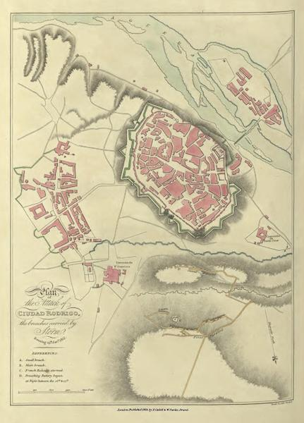 Historical, Military, and Picturesque Observations on Portugal Vol. 1 - Plan of the Attack of Cuidad Rodrigo, 19th Jan 1812 (1818)