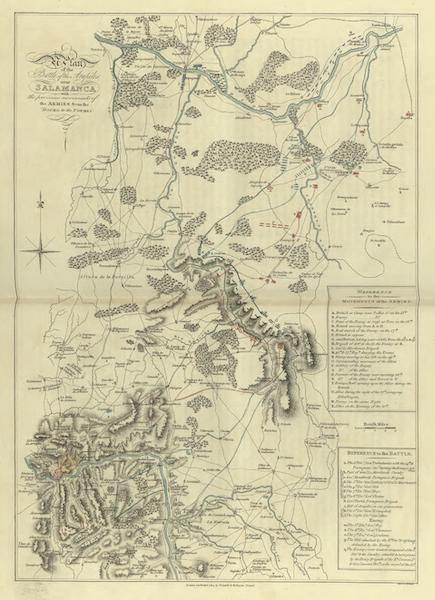 Historical, Military, and Picturesque Observations on Portugal Vol. 1 - Plan of the Battle of the Arapiles near Salamanca  (1818)