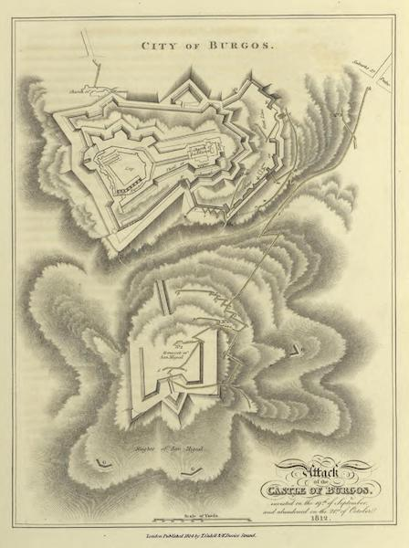 Historical, Military, and Picturesque Observations on Portugal Vol. 1 - Attack of the Castle of Burgos, 1812 (1818)