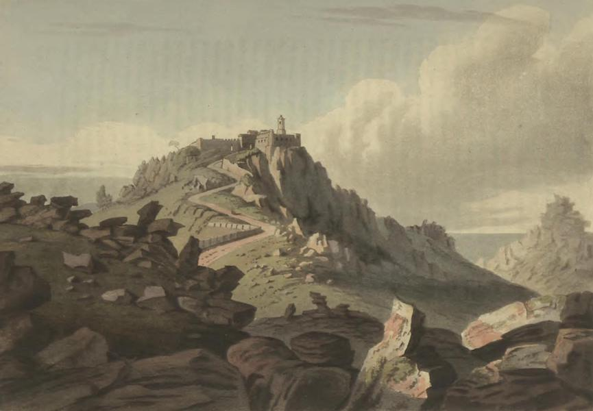 Historical, Military, and Picturesque Observations on Portugal Vol. 2 - Convent near Cintra on the Highest pinnacle of the Rock of Lisboa Estramadura (1818)