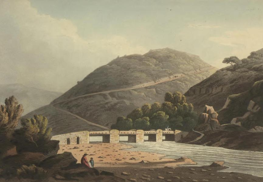 Historical, Military, and Picturesque Observations on Portugal Vol. 2 - Bridge & Ford on the River Niza, on the road from Villa Velha to Niza Alentejo (1818)