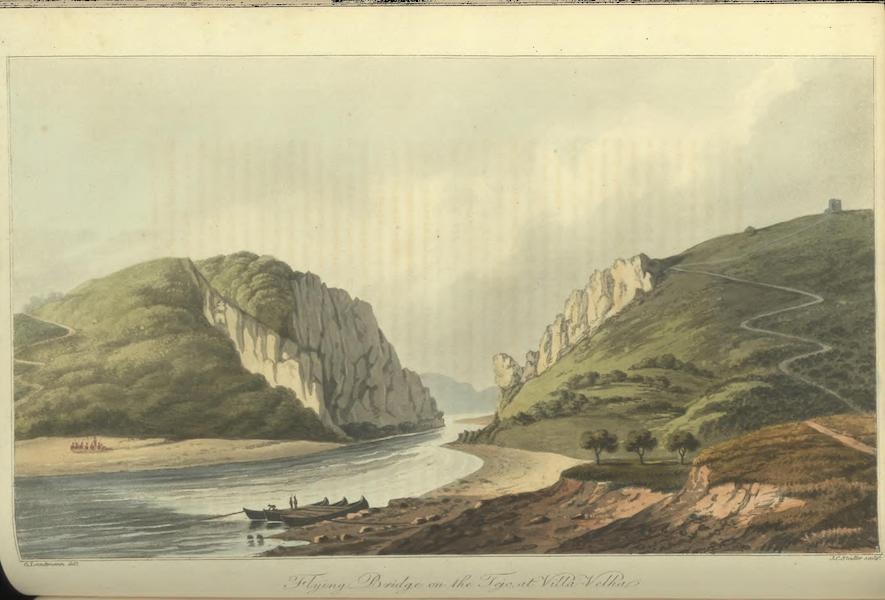 Historical, Military, and Picturesque Observations on Portugal Vol. 2 - Flying Bridge on the Tejo, at Villa-Velha (1818)