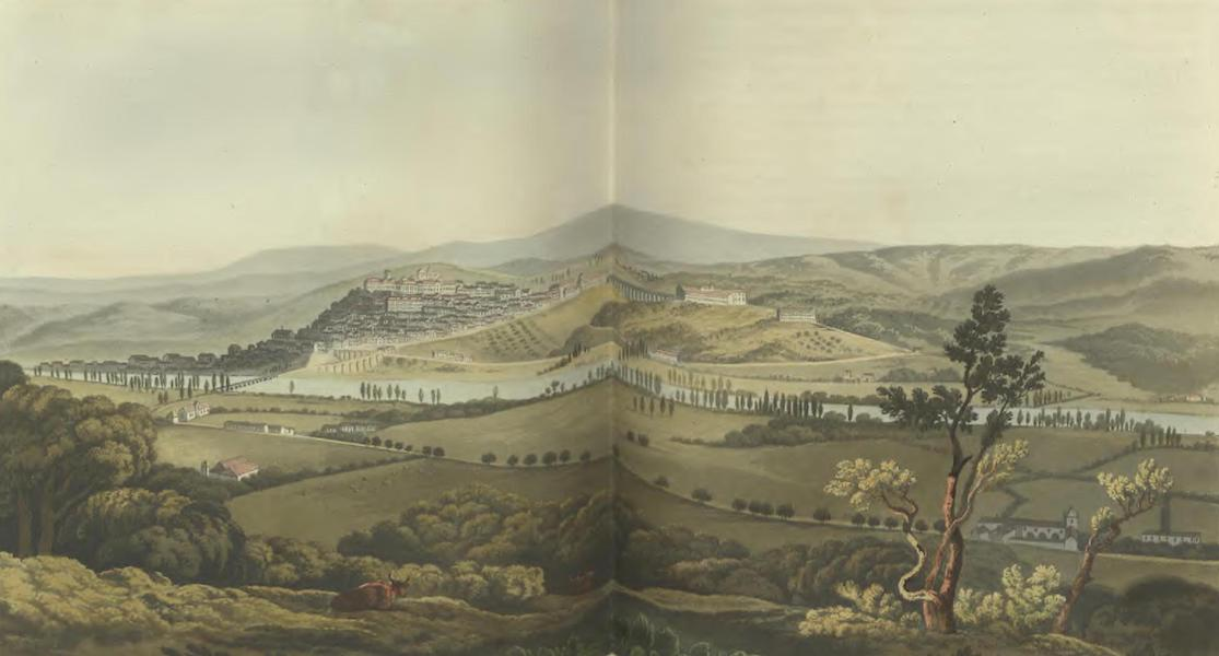 Historical, Military, and Picturesque Observations on Portugal Vol. 2 - City of Coimbra, anciently called Conimbra, from the South: Beira  (1818)