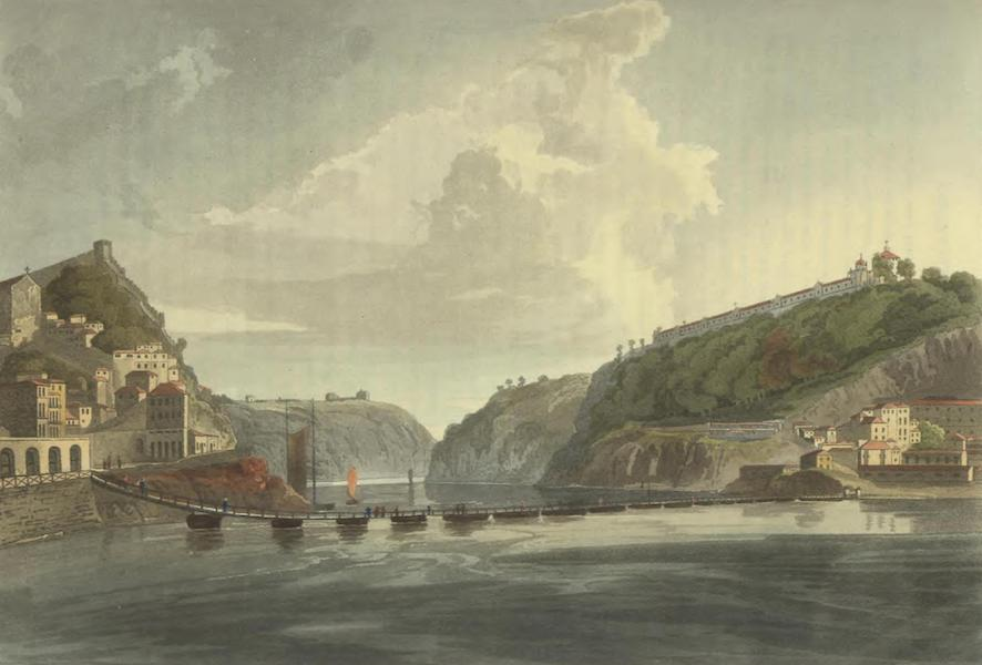 Historical, Military, and Picturesque Observations on Portugal Vol. 2 - Bridge of Boats at Porto, on the River Douro (1818)